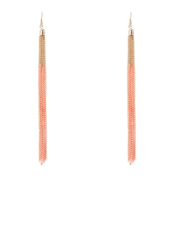 esprit服飾色塊鍊飾流蘇吊墜耳環, 飾品配件, 其他