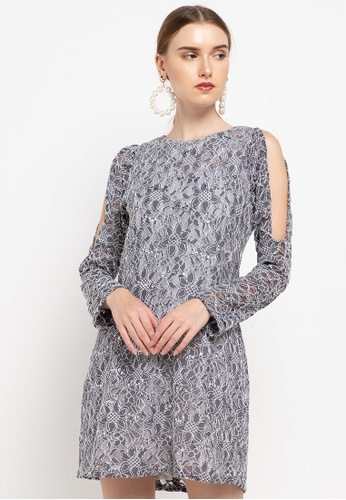 CHANIRA LA PAREZZA grey Heldesa Dress 3D559AA8BA3601GS_1
