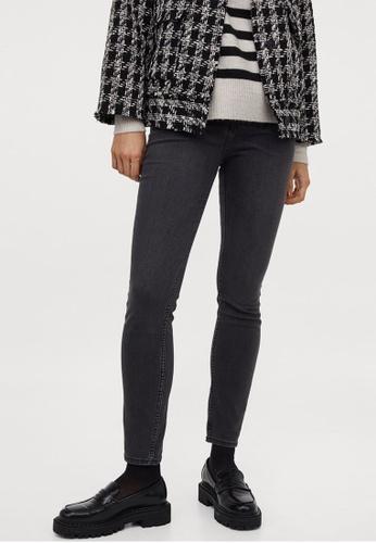 H&M grey Skinny High Jeans 08EB5AA423DB61GS_1