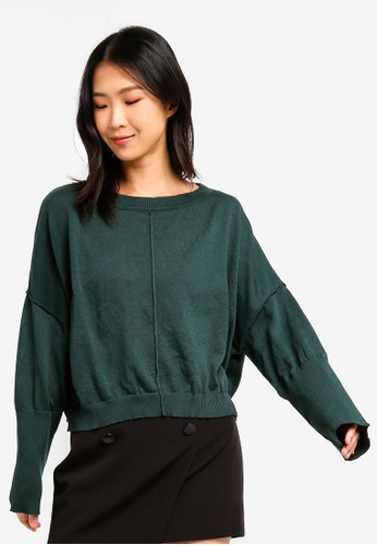 ZALORA BASICS green Basic Oversized Jumper 06438AA32E4ADAGS_1