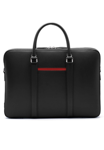 Maverick & Co. black Maverick & Co. Manhattan Deluxe Leather Briefcase (Premium Black) 8B47EAC36E2BC0GS_1