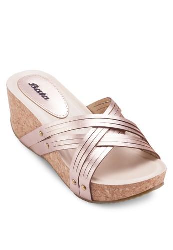 Varana 軟木楔esprit outlet 家樂福型跟涼鞋, 女鞋, 楔形涼鞋