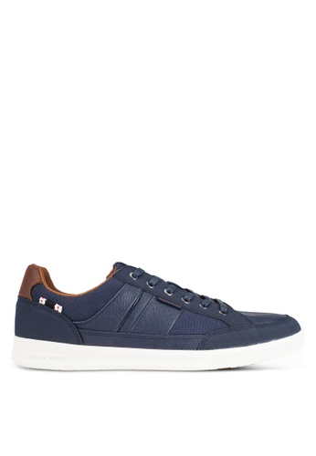 Jack & Jones navy Rayne PU Mix Sneakers JA987SH0RGKCMY_1