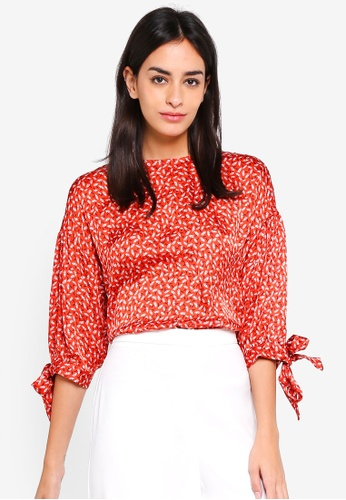 ESPRIT red Woven Half Sleeve Blouse 56C2CAAA8A4A06GS_1