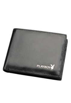 Playboy black Bifold Leather Wallet 48EFDAC82CD740GS_1