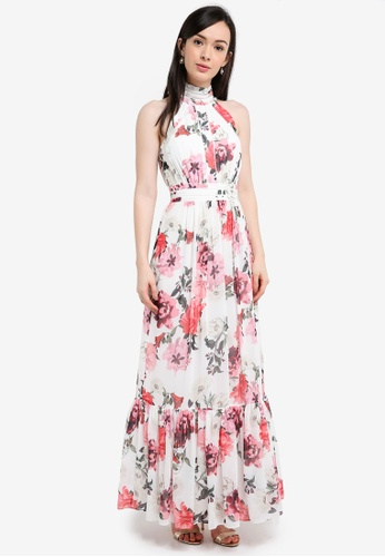 Forever New multi Rose Print Floral Maxi Dress 51C88AAB92D15DGS_1