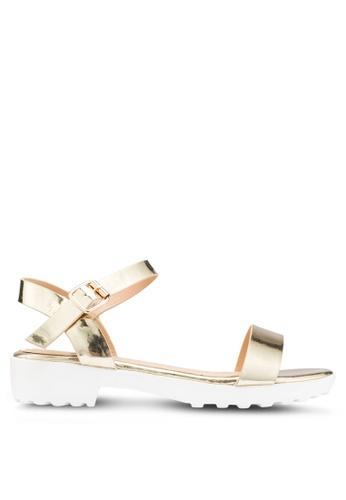 Carlton London 金色 金屬感涼鞋 87516SH9E6473DGS_1