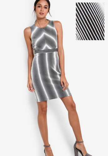 ZALORA multi Collection Textured Bodycon Dress D5EB5AA23DD70FGS_1