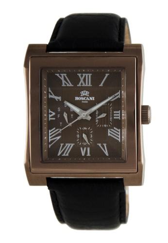 Roscani brown Roscani Davis M 913M (Multifunction + WR 5ATM) Brown Leather Men Watch F732CACB0AF2D6GS_1