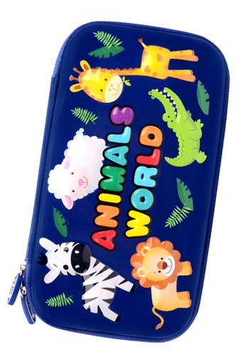 Yome navy YOME Pencil Case Animal World A09FAKC09D5C83GS_1