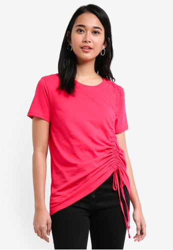 ONLY red Merle Short Sleeve Pull String Tee 0E926AA2758A46GS_1