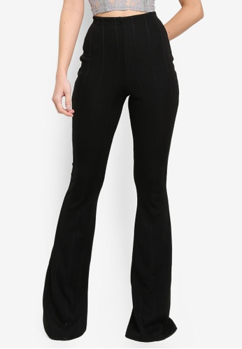 MISSGUIDED black Tall Bandage Flare Trousers 8F2F7AA06C7907GS_1