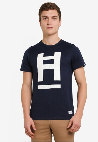 High Cultured navy Round Neck Tee HI002AA0S1UQMY_1