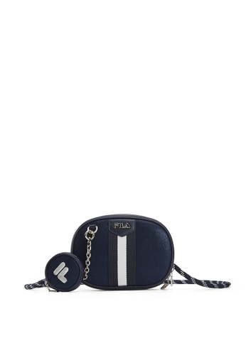 FILA navy FILA Logo Color Blocks Crossbody Bag 6D899AC4EBDAF9GS_1