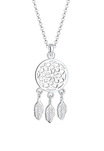 Elli Germany silver Dreamcatcher Necklace EL474AC0RFHEMY_1