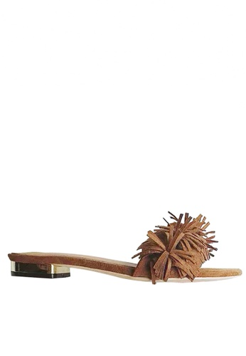 Twenty Eight Shoes brown Tassel Flip-flops VS311 TW446SH45UEKHK_1