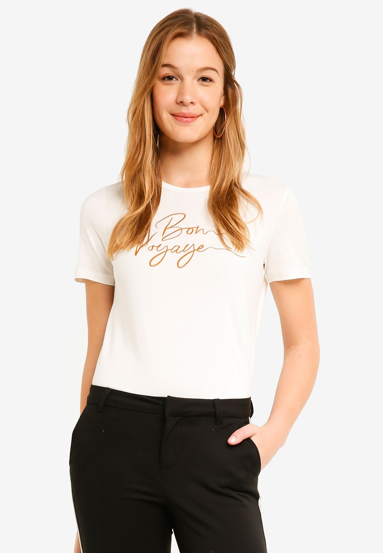 Curry White Snow Moda Emb Sleeve Thai T Shirt Vero Short Midi Valentina C1xvcwqfa