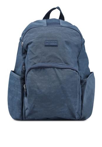 Bagstationz navy Crinkled Nylon Backpack BB057AC4A043B4GS_1