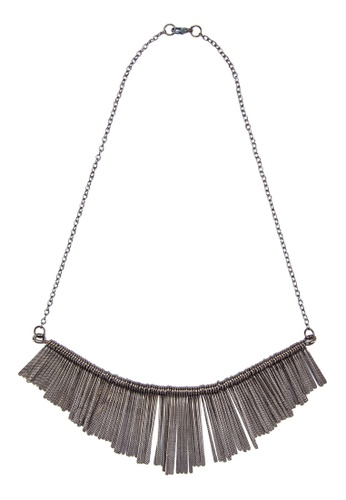 Zolace black Carefree Cascade Necklace ZO350AC34ANHMY_1