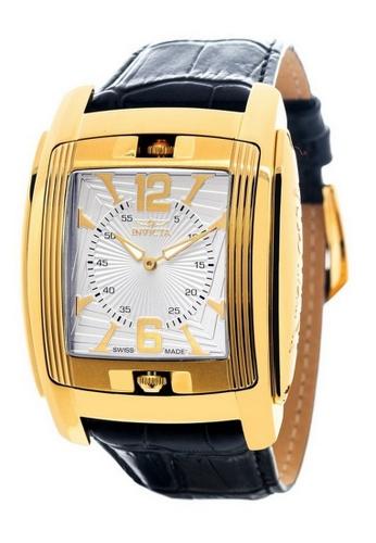 INVICTA gold Invicta Vintage Men 48mm Case Black Leather Strap Black, Silver Dial Quartz Watch 90181 IN968AC0F5C4SG_1