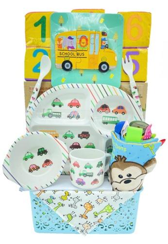 Akarana Baby white and multi Baby Hamper Gift Set- My 1st Brithday Baby Hamper (Boy) B3E39KCE226DCDGS_1