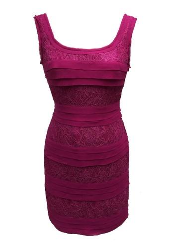 b8e8e51199e Buy ANNE F Fabulous Lace Chiffon Draping Cocktail Dress