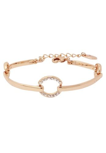 Jaysa Collection gold Harmony Circle Bracelet with Swarovski crystals JA875AC0FJTYSG_1