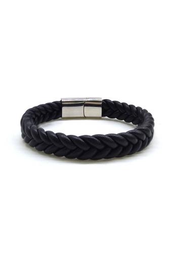 Her Jewellery black Calvin Bracelet 33637AC4B9F458GS_1