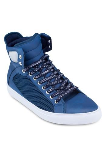Mixed Material High Top Sneakers, 鞋,zalora 內衣 休閒鞋