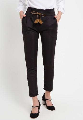AliveLoveArts black and multi Nancy Scuba Long Pants 129A1AAD05EAE8GS_1