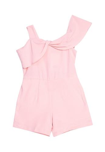 Mommy & Me by Great Kids pink Off-Shoulder Romper 3E3C6KA6FD32FDGS_1