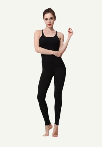 B-Code black ZYG5021E-Lady Quick Drying Running Fitness Yoga Sports Leggings-Black 28724AAB623956GS_1