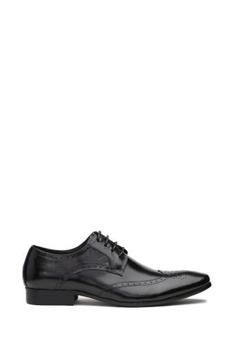 Kings Collection 黑色 布拉德利傳統牛津花男裝皮鞋 4A105SH6057BEBGS_1