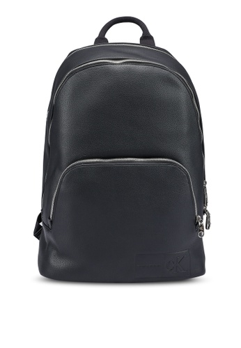 Calvin Klein black Rounded Triple Comp Backpack - Calvin Klein Jeans Accessories 0868DAC2808C5BGS_1