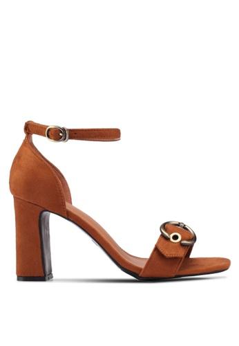 Something Borrowed brown Eyelet Ankle Strap heels 8F1D4SH11EF607GS_1