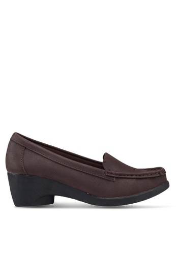 NOVENI brown Loafer Style Wedges B2C30SHDA33A2DGS_1