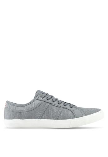 Jack & Jones grey Ross Chambray Mix Sneakers 74CE1SHD5FD4DBGS_1
