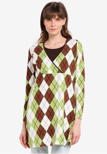 Aqeela Muslimah Wear green Nursing Kimono Top 0CC11AA9F4C456GS_1