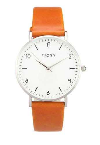Fjord 褐色 質感百搭手錶 FJ204AC0SBTYMY_1