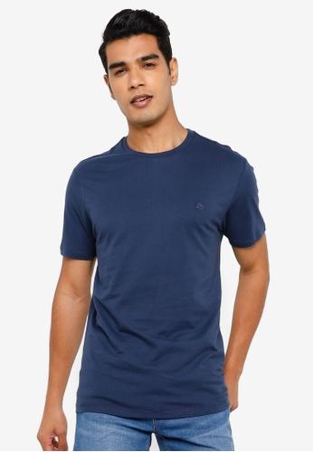 Springfield blue Basic Logo T-Shirt 61ACCAAC3C1FD0GS_1