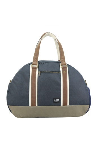 G.ride green and navy Baya Weekend Bag GR478AC0GKTGSG_1