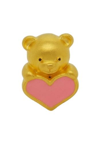 LITZ gold LITZ 999 (24K) Gold Bear Charm 小熊 EPC0599 (1.60g +/-) B06ABAC95D025CGS_1