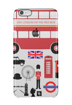 Casey Crazy - London Semi-Transparent Hard Case for iPhone 6