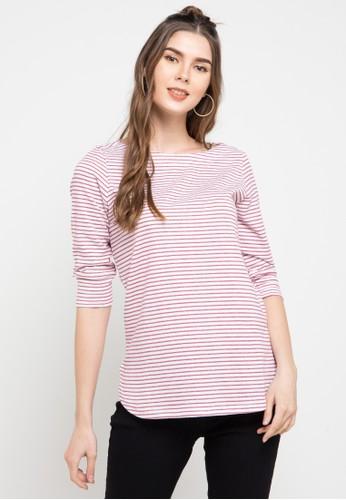 Expand multi Sabrina Collar Striped Shirt 1FBB9AAD04CDC5GS_1