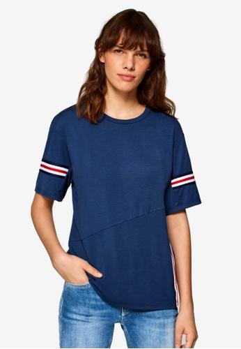 ESPRIT navy Short Sleeve T-Shirt E9AA5AA2253C67GS_1