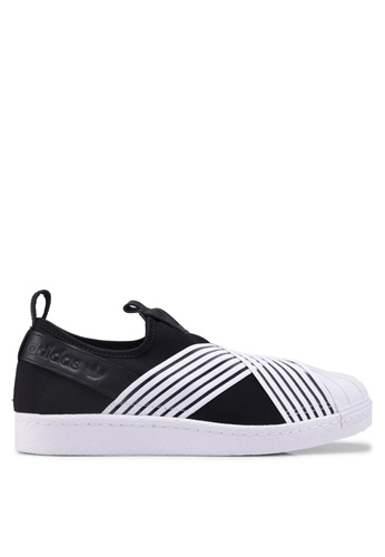 adidas black adidas originals superstar slip on w 043A2SHAF61C77GS_1