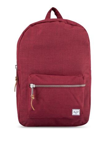 Herschel red Settlement Mid-Volume Backpack 0F0A6ACFE1B20BGS_1