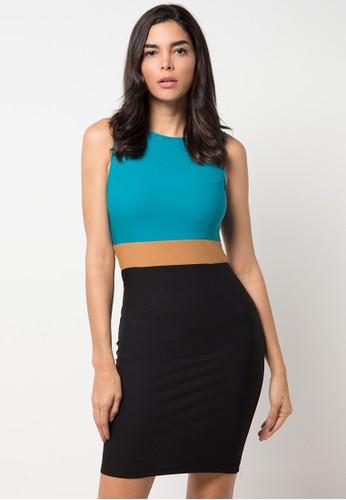 Raspberry green Gianna Singlet Dress RA572AA78YQJID_1