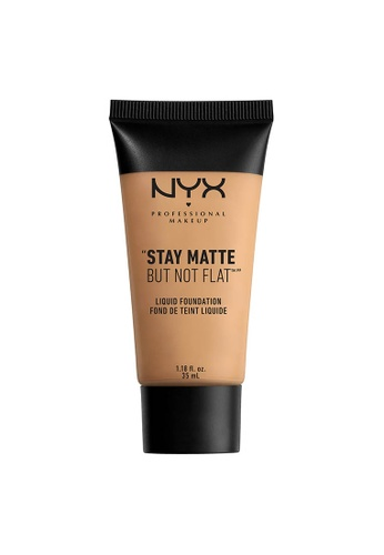 NYX Professional Makeup beige NYX Professional Makeup Stay Matte But Not Flat Liquid Foundation - WARM BEIGE 1376FBED7AF2FEGS_1