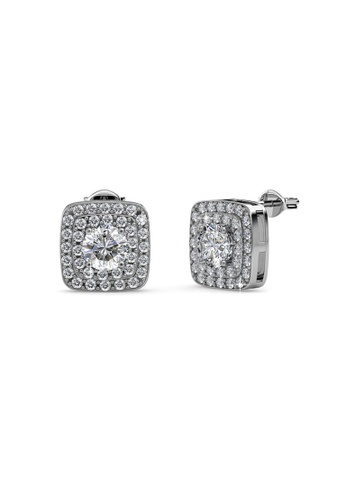 Her Jewellery silver Swarovski® Crystals - Simone Earrings (18K White Gold Plated) Her Jewellery HE581AC0RAK5MY_1